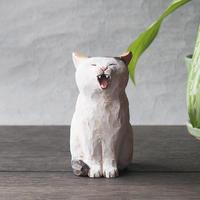 渡辺 雅人 手彫りの猫/   w50×d70×h100   WA-31