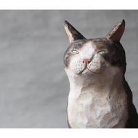 渡辺 雅人 手彫りの猫 / w65×d100 ×h150 WA-22