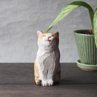 渡辺 雅人 手彫りの猫 / w50×d70×h95  WA-30