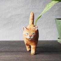 渡辺 雅人 手彫りの猫/   w45×d150×h110(しっぽ含)WA-28