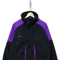 90's COLUMBIA ナイロン ジャケット BLACK×PURPLE