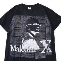 90's Malcolm X 両面 プリント Tシャツ BLACK  XLサイズ USA製