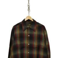 60's Sears レーヨン オンブレ チェックシャツ BLACK