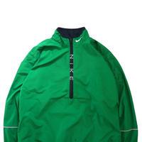 "90's NIKE ""Zip-Logo"" Nylon Pull Over Jacket GREEN Lサイズ"