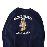 "~70's Collegiate Pacific ""COAST GUARD"" カラー フロッキー スウェット Lサイズ USA製"