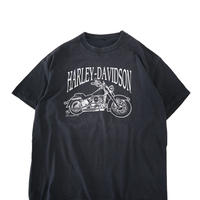 """80's Harley Davidson """"A.D. FARROW CO."""" 両面 プリント Tシャツ"""