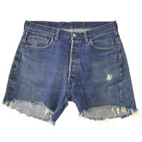 "60's Levi's 501 DENIM PANTS ""66single"" CUT OFF (W35相当)"