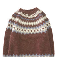 """70's~80's unknown Nordic Pattern """"Good Color"""" Wool Sweater"""