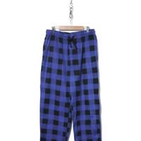 STAFFORD ブロックチェック フリース イージー パジャマパンツ Lサイズ