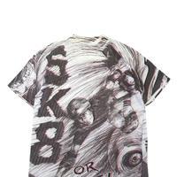 "90's OLD SKATE ""SK8 or DIE!"" 総柄プリント Tシャツ XLサイズ"