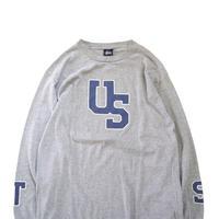"""90's OLD STUSSY """"袖プリント"""" ロングスリーブ Tシャツ 紺タグ Lサイズ USA製"""