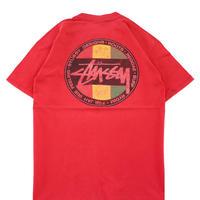 "80's OLD STUSSY ""RASTA Logo"" プリント Tシャツ 黒タグ USA製"