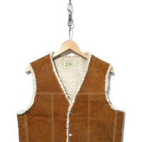 80's~90's Genuine Leather スウェード ボアベスト