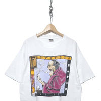 "90's 雰囲気系 アートプリント Tシャツ ""THY SELF"" USA製"