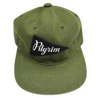 Pilgrim Surf+Supply 6パネル ダック地 CAP KHAKI