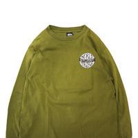 "80's~90's OLD STUSSY ""WORLD TRIBE"" ロングスリーブ Tシャツ 黒タグ Lサイズ USA製"