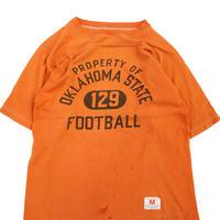 70's CHAMPION バータグ 4段 染み込み プリント フットボール Tシャツ Mサイズ USA製