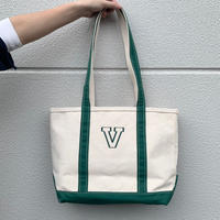 LL Bean BOAT AND TOTE BAG Natural×Green USA製