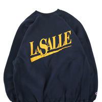 "90's CHAMPION RW SWEAT ""LA SALLE"" Navy×Yellow XLサイズ"