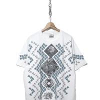 """90's ANDAZIA """"M.C. ESCHER"""" 両面 マルチプリント Tシャツ XLサイズ"""