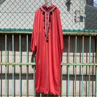 """Women's"" ~70's ELAINE SKLAR ロング ワンピース Coral Red"