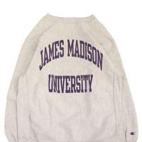 """90's CHAMPION RW SWEAT """"JAMES MADISON"""" 染み込み プリント XLサイズ USA製"""