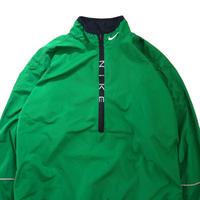 "90's NIKE ""Zip Logo"" Nylon Pull Over Jacket GREEN Lサイズ"