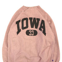 "80's CHAMPION RW SWEAT ""IOWA 33"" Over Dye Pink XXLサイズ USA製"