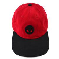 """90's """"Herman Miller"""" 6-Panel Baseball Cap RED×BLACK USA製"""