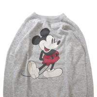 70's Mickey Mouse プリント スウェット 霜降りグレー