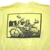 "80's~ YAMAHA ""VICK'S"" 両面 プリント Tシャツ Lemon-Yellow"