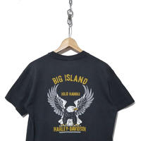 "80's ハーレーTシャツ ""BIG ISLAND HILO HAWAII"" 胸ポケ USA製"