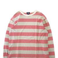 90's~00's OLD STUSSY ボーダー ロングスリーブ Tシャツ Lサイズ