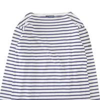 "SAINT JAMES ""ウエッソン"" ボーダー バスクシャツ White×Navy MLサイズ FRANCE製"