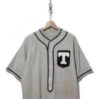 "50's Wool Baseball-Shirts ""マチ付き"" ゾロ目ナンバリング GREY"