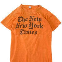 """70's~80's """"THE NEW YORK TIMES"""" 両面 プリント Tシャツ Mサイズ USA製"""