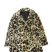 """Unisex"" 80's~90's Animal Pattern Fake Fur Coat Jacket"