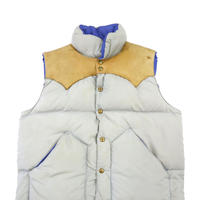 70's Rocky Mountain Featherbed ダウンベスト GREY✕BEG 40サイズ