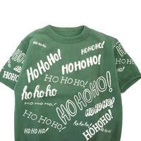 """60's """"HO HO HO"""" 半袖 スウェット GREEN (L~XL相当)"""