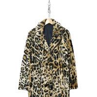 """""""レディース"""" 80's~90's Animal Pattern Fake Fur Coat Jacket"""
