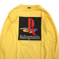 "00's RIDINGMANIA ""Play Station"" プリント ロングスリーブ Tシャツ Mサイズ USA製"