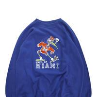 "70's Collegiate Pacific ""MIAMI"" カラー フロッキー スウェット XLサイズ  USA製"