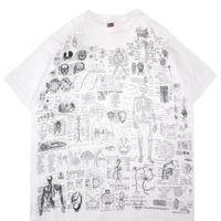 """~'00s Fruit of the loom """"BLINDED BY SCIENCE"""" 両面 プリント Tシャツ XLサイズ"""