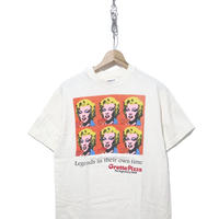 "90's Grotto Pizza ""Marilyn Monroe"" 両面 プリント Tシャツ Mサイズ USA製"
