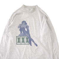 "80's SIGNAL ""XXX"" 両面 プリント モック ロングスリーブ Tシャツ XLサイズ USA製"