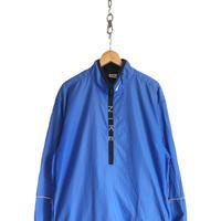 "90's NIKE ""Zip-Logo"" ナイロン プルオーバー ジャケット BLUE XLサイズ"