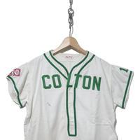 70's~  Baseball-Shirts 袖ワッペン コットン素材 オフホワイト