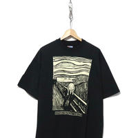 "90's Hanes EDWARD MUNCH ""THE CRY"" Tシャツ USA製 XLサイズ"