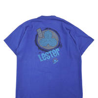 """80's~90's TRACKER """"Lester KASAI"""" 家紋 プリント Tシャツ BLUE"""