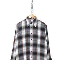 70's McGREGOR レーヨン オンブレ チェックシャツ Mサイズ USA製